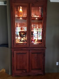 Brown wooden china cabinet Terrebonne, J6V 1P4