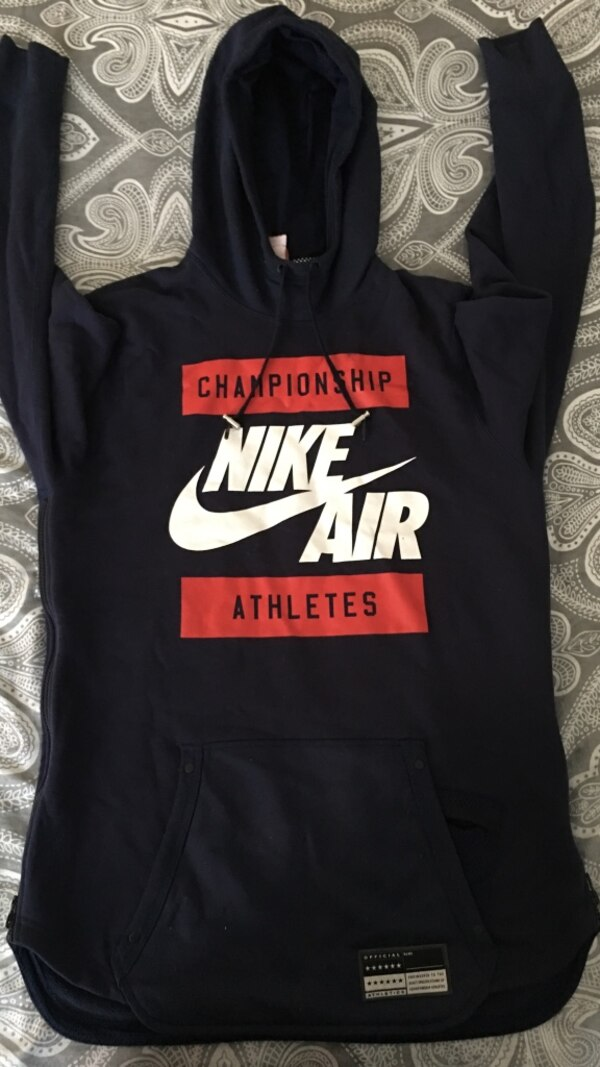 Used black nike air championship athletes printed pull-over hoodie for sale  in Merrillville 462c0c230