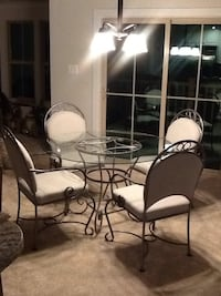 Pewter Dining table and chairs Linganore, 21774