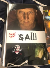 Tobin bell autographed 11x17 movie poster from the movie saw !