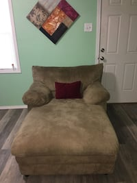 brown suede chaise lounge