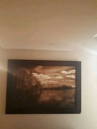 brown wooden framed painting of trees Quinte West, K8V 5P8