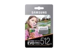 NEW - Samsung 512GB 100MB/s (U3) MicroSDXC Evo Select Memory Card with Adapter (MB-ME512GA/AM)