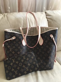 black and brown Louis Vuitton leather tote bag Toronto, M2N