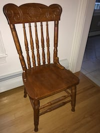 5 solid wood dining room chairs South Dartmouth, 02748