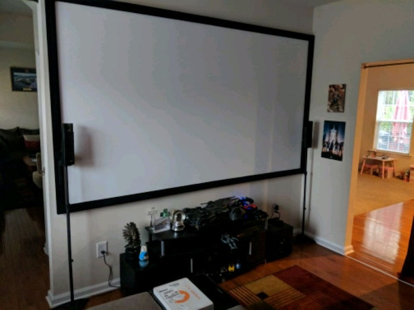 120 inch projector screen (1080p and 4k compatible)