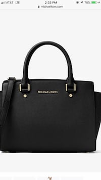 Black michael kors leather 2-way handbag