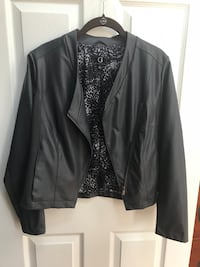 Dark gray faux leather jacket. Size S. Fits like size6-8. Leesburg, 20176