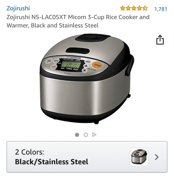 9f63570c117 Käytetty Zojirushi NS-LAC05XT Micom 3 Cup Rice Cooker and warmer ...