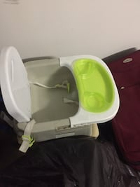 baby's white and green feeding chair Calgary, T1Y 2A6