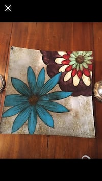 two blue and brown flower paintings Omaha, 68116