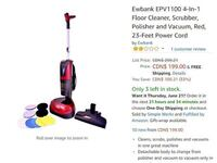 Floor Scrubber and Polisher with Vac /Ewbank/ Refurbished Mississauga