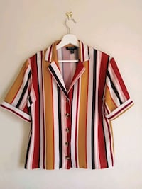 NEW LOOK white and red stripe button-up shirt Greater London, SE19 3NL