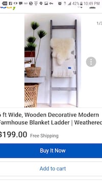 Beautiful decorative wooden blanket ladder!! Los Angeles, 90043