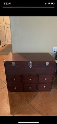 Brown 6 drawer chest