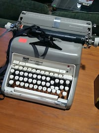 gray and white Smith Corona typewriter Fairfax