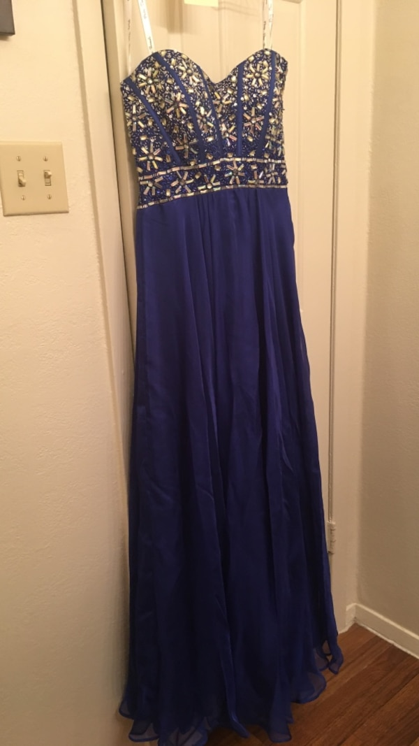 9978875c7b336 Used Blue bejeweled prom dress for sale in Lewisville - letgo