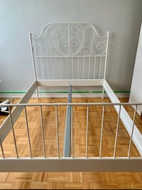 FREE DELIVERY - DOUBLE WHITE BRASS BED FRAME - GREAT CONDITION