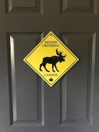 Classic Moose Crossing sign  Oakville, L6H 3C8