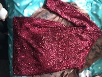 Women's pink sequinned one-shoulder long-sleeved mini dress San Diego, 92139