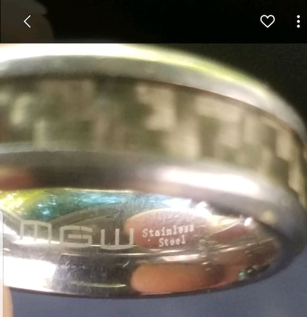 MGW Stainless Steel Wedding Band size 12 ed61e40f-7840-4a89-9086-82a7a23fe8e1