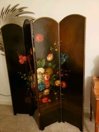 black and red floral room divider 43 km