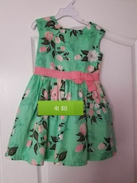 green and pink floral holidat dress Bakersfield, 93313