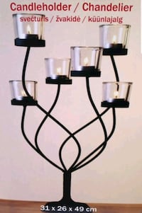 BEAUTIFUL BLACK METAL CANDLE HOLDER!! Edmonton, T6R