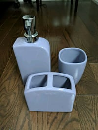 Soap, cup & tooth brush holder - Purple Vaughan, L6A 1G6