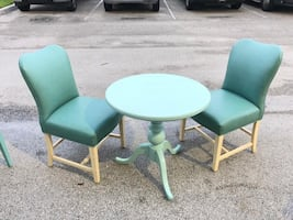 2 chairs and a table (dinning set)
