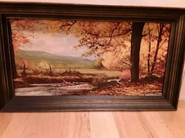 Beautiful  Autumn Scene signed bottom right Corner