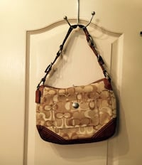 Authentic brown and black Coach monogram hobo bag Luling, 70070