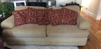 red fabric 3-seat sofa Western Springs, 60558