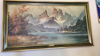Mountain scene painting collectable Surrey, V4N 3H1