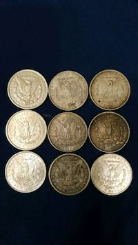 Nine round silver-colored coins Fountain Valley, 92708