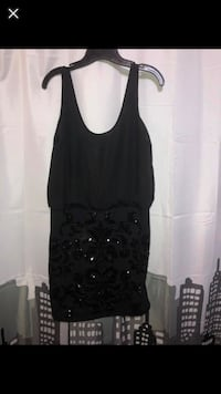 Semi fitted black sequence cocktail dress  Brampton, L6Y 3T5