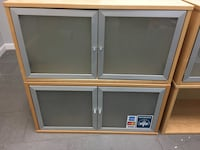 Four IKEA wall cabinets. Three comes with glass doors. One of them is open shelf. Pick up in Merrifield VA. 18 mi