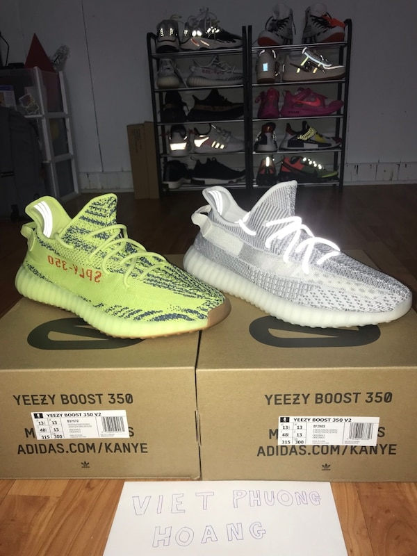 7e7213848f2a7a Used Yeezy 350v2 Both size 13.5 (Rare Size) for sale in Toronto - letgo
