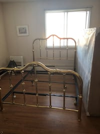 Queen sized Brass bed frame with mattress and box spring if desired Edmonton, T5E 4G6