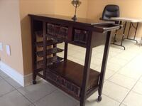 Brown wooden side table with drawer Mississauga