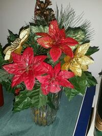 red and green artificial flower decor Hamilton, L8J 0B2