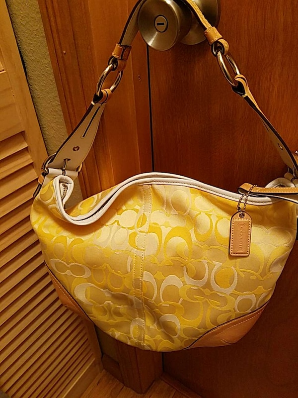 14459d28bc Used Authentic Spring Yellow Coach Purse for sale in Tacoma - letgo