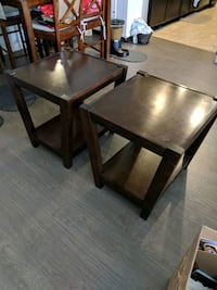 Rectangular brown wooden side tables Los Angeles, 91411