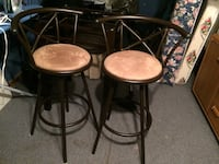 two brown wooden bar stools Hamilton, L8H 4W4