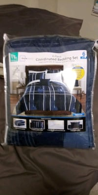 black and blue plaid comforter set Coplay, 18037
