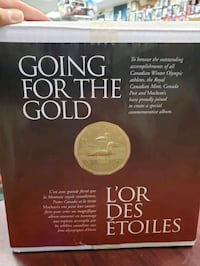 2002 GOING FOR THE GOLD COMMEMORATIVE ALBUM W/22 KARAT GOLD COIN