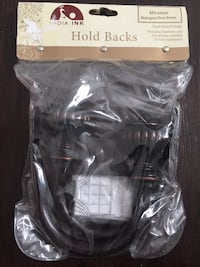 Two Sets of Brand New India Ink Curtain Holdbacks in Oil Rubbed Bronze $10/each 921 mi
