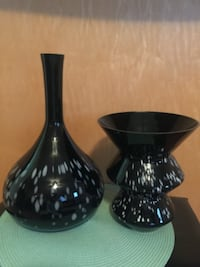 two black assorted-shape vases Rochester
