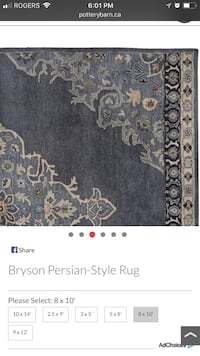 Bryson Persian styled rug $650 obo