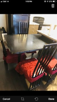 free need gone on monday asap ..expandable table ,chairs with covers..